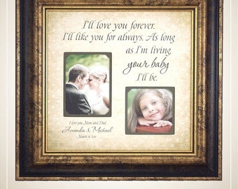 personalized picture frame mother daughter wedding frame bride love wall quote i - Mother Daughter Picture Frame