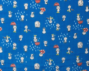 Kawaii Japanese double gauze fabric by Kobayashi - 1/2 YD