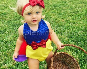 Snow White Princess Elastic Headband,Girls Red Bow Headband,Snow White Party Headband,girl snow white,Baby Snow white Headband