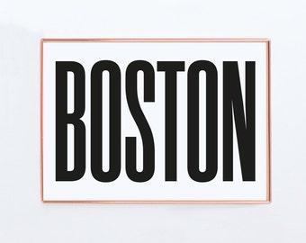 Boston, Graphic art, USA, Black and White Art Typography Poster, Houstonwall art, Texas wall art ,Texas Poster, Texas Print, Texas Art