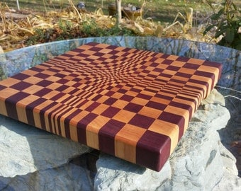 3D End Grain Cutting Board - The Concave Board