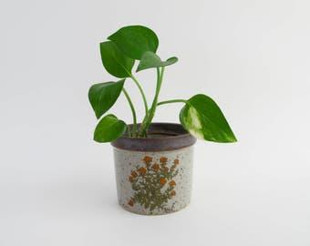 Vintage Planter Small Flowerpot Stoneware Planter Vintage Flowerpot Indoor Gardening Takahashi