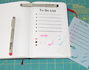 To Do List Notebook Stencil - Reusable  Stencil of To-Do List for Journals and Notebooks