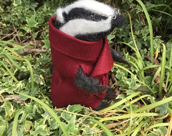 Needle Felted Mr Badger 'Wind in the Willows'