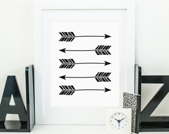 Arrow Printable Tribal Arrows Tribal Nursery Wall Art Arrow Wall Art Native Nursery Decor Southwest Nursery Wall Art Boy Nursery Art Black