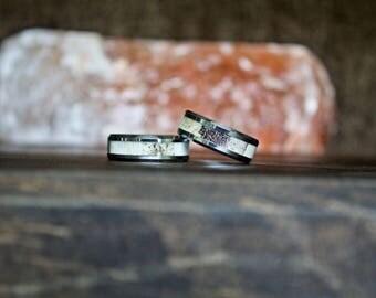 Antler Ring, Tungsten Carbide Ring, Mens Ring, Womens Ring, Wedding Band, Deer Antler Ring, Personalized Ring, Wedding Ring, Anniversary
