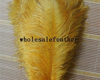 100 pcs 16-18inch gold ostrich feather plumes for wedding centerpieces wedding decor