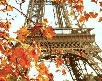 Paris in the Fall, Autumn Leaves, Eiffel Tower 2016