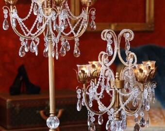 Rent Crystal candelabras gold or silver