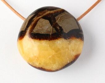 Natural Large Polished Septarian Pendant