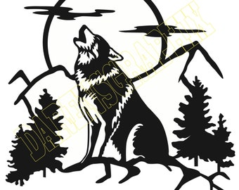 """DXF File """"Wolf"""""""