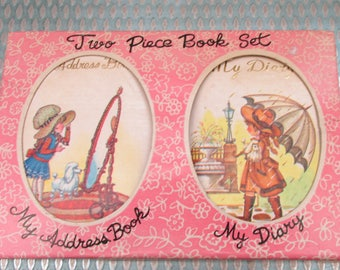 Vintage 1970s Unused Diary and Address Book Gift Set in Box