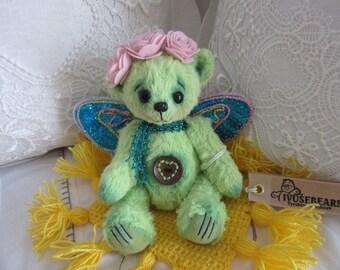 Bear Limetka - teddy bear, OOAK, artist bear, collectible