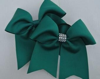 Softball Bows/Jade Softball Hair Bows/JadeCheer Bows/Jade Soccer Bows/Jade Volleyball Bows/7 inch solid color Jade Bow