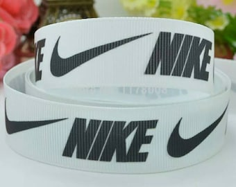 Nike logo 7/8 inch Grosgrain Ribbon by the yard