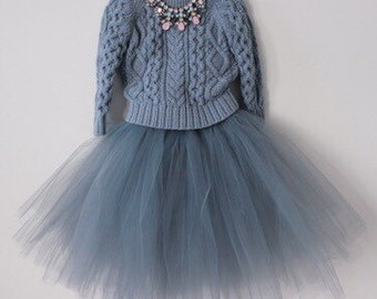 Fluffy floor length tutu skirt