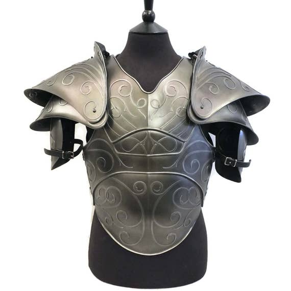 Larp armor, Fantasy Citadel chest armor and pauldrons.  Cosplay armor, Skyrim, LOTR