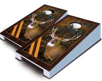 Trophy Buck Tabletop Cornhole Board Set.