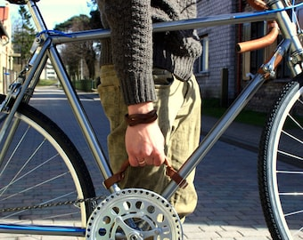 Bicycle handle Bicycle Leather Frame Handle Carrying Handle Bicycle lifter