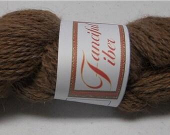 Handspun 100%  Llama Yarn 2 Ply  Medium Brown (A)