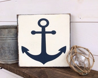 Anchor Sign Nautical Sign - CUSTOM COLORS AVAILABLE
