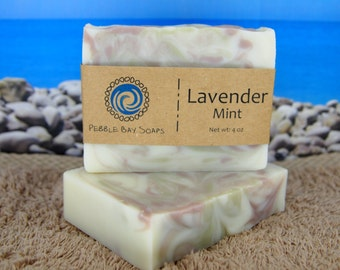 Lavender Mint Soap - Peppermint Lavender Soap - Essential Oil Soap - Natural Soap - Handmade Soap - Cold Process Soap
