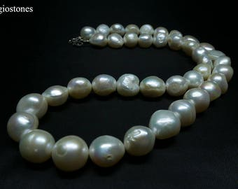 Natural Genuine Handmade Freshwater Pearl Necklace