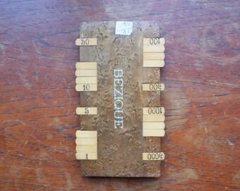 Bezique score board - mid 19th Century