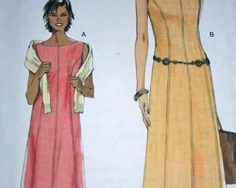 Chic Princess Seamed A-line Dress Pattern---Vogue 8022---Size 16-22  UNCUT