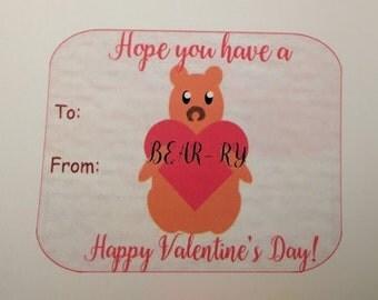 Bear and Heart Valentine pdf