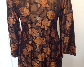 Original Vintage 1960's Coat Dress - Size 12