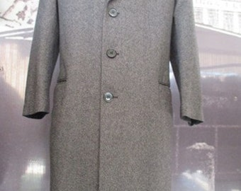 Cappotto da uomo classico anni 60.Panno sale&pepe.Tg.50/60s classic men coat/Woollen cloth/Tweed/High quality/Pocket with reverse/Size M-36