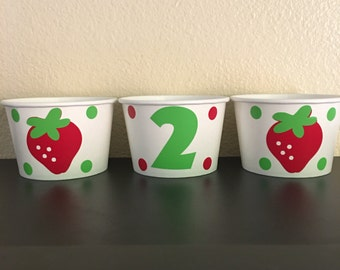Strawberry Party Snack Cups