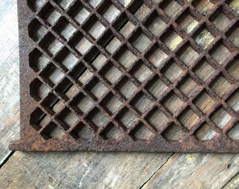 Architectural Salvage Cast Iron Grate Vent Cover
