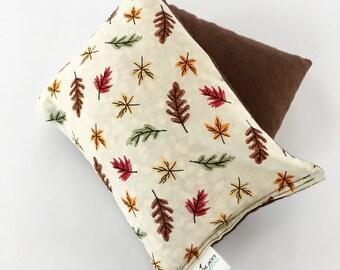 Hot Cold Corn Bag, Microwavable Heating Pad, Corn Bag, Autumn Leaves, Medium