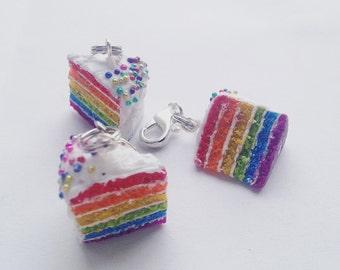 Rainbow Cake Slice Charm