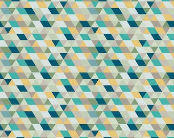 1 Yard Ava Rose by Deena Rutter for Riley Blake Designs-  5871 Blue Geometric
