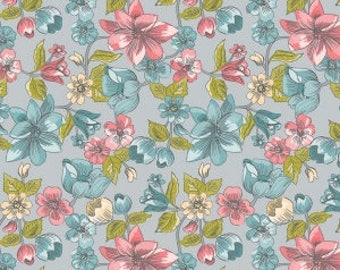 SALE!! 1/2 Yard Linen and Lawn by Sue Daley Designs for Penny Rose Fabrics- LW6340 Gray Main