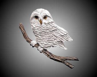 Small Boreal Owl Wall Sculpture