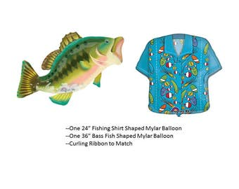Bass Fishing Balloon Set