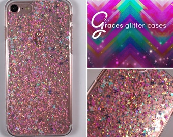 Butterfly - Sherbert - Glitter Phone Case - iPhone 7 7 plus 6 plus 6s SE 5s 5c 5 4 Samsung S3 S4 S5 S6 S7 Edge - glitter iphone case