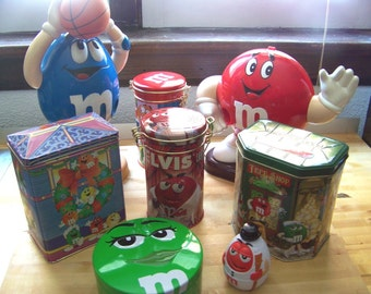 "M&M Collectibles including singing ""Elvis"" tin"
