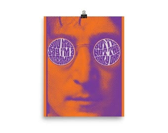 John Lennon Imagine Unframed Poster (12 x 18 inches)