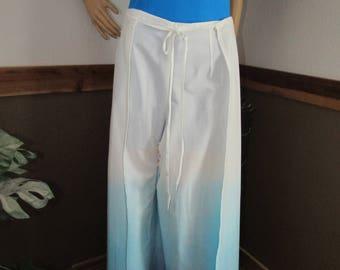 Dip dye wrap pants, shades of blue or shades of greys