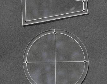 """Dresden Plate Quilting Templates 16"""" Block, 1/4"""" Seam Allowance, 2 Pc set"""