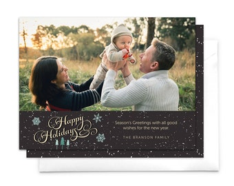 Snow this Christmas Photo Card / Holiday Card / Printable Holiday Card / Photo Holiday Card / Custom Christmas Card / Printable Holiday Card