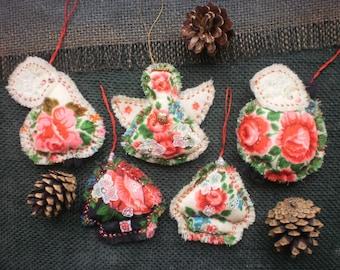 Christmas ornaments Set of 5 Christmas decorations Christmas gifts House ornaments Decoration Christmas gift for everyone Tree decorations
