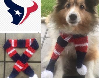 Texans Dog Scarf, Houston Texans Dog Scarf, Texans, Houston, Dog Scarf, Texans Pet Costume, Texans Football, Texans Dog, Texans Pet Scarf