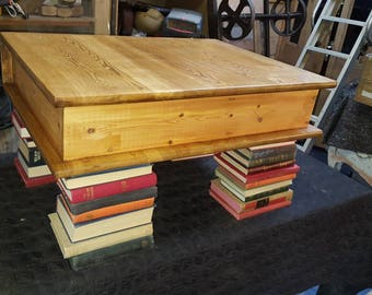 Quirky book style coffee table