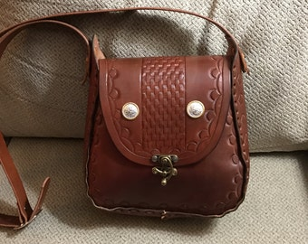 Large Vintage Style Crossbody Handbag